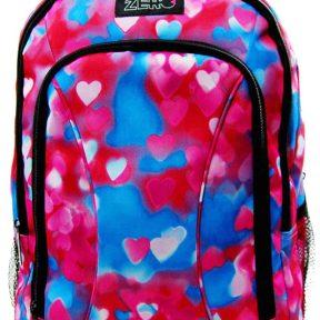Σχολική Τσάντα Zero Γυμνασίου-Λυκείου Με Καρδούλες 41cm x 30cm x 14cm 1651-6332-MULTICOLOR