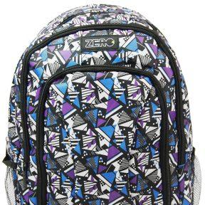 Σχολική Τσάντα Zero Γυμνασίου-Λυκείου 41cm x 30cm x 14cm 1651-6350-MULTICOLOR