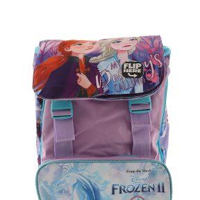 Σχολική Τσάντα Frozen Δημοτικού Τετράγωνη 39cm x 27cm x 13cm Flap Flipbook 11116-9154-MULTICOLOR