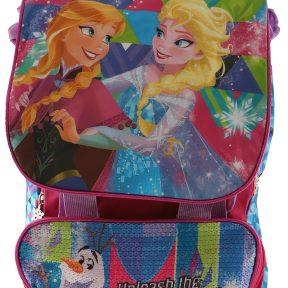 Σχολική Τσάντα Frozen Δημοτικού Τετράγωνη 39cm x 27cm x 13cm 1111P-7446-MULTICOLOR