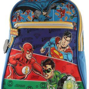 Σχολική Τσάντα Justice League Νηπιαγωγείου Justice League Με Μπροστινή Τσέπη 28cm x 22cm x 10cm 9815055P-MULTICOLOR