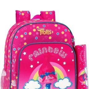 Σχολική Τσάντα DreamWorks Δημοτικού Με Κασετίνα Trolls 640-6572SET-MULTICOLOR