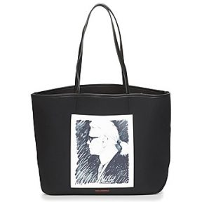 Shopping bag Karl Lagerfeld KARL LEGEND CANVAS TOTE Εξωτερική σύνθεση : Ύφασμα & Εσωτερική σύνθεση :