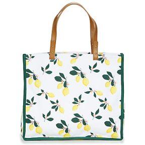 Shopping bag Petite Mendigote CLEA LEMON Εξωτερική σύνθεση : Φυσικό ύφασμα & Εσωτερική σύνθεση : Ύφασμα