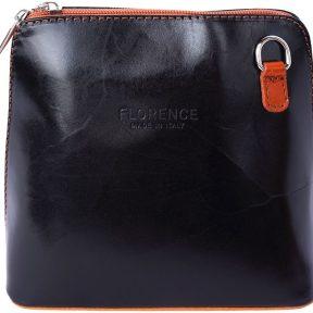 Δερματινο Τσαντακι Ωμου Dalida Firenze Leather 201 Μαύρο/Μπεζ