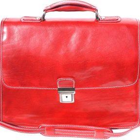 Δερμάτινος Χαρτοφύλακας Για Laptop Firenze Leather 7615 Κόκκινο