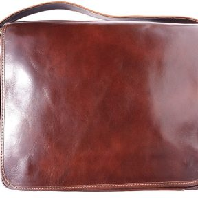 Τσάντα Ταχυδρόμου Δερματινη Firenze Leather 6555 Καφε