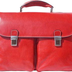 Δερματινος Χαρτοφυλακας Andrea Firenze Leather 7626 Κόκκινο