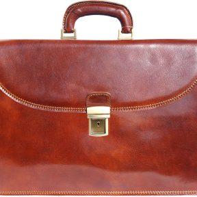 Δερμάτινος Χαρτοφύλακας 3 Θέσεων Firenze Leather 7603 Καφε