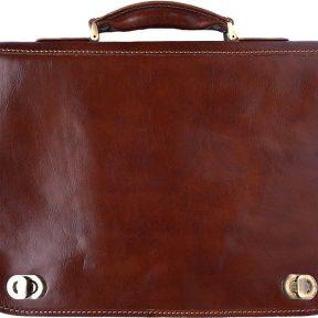 Δερμάτινος Χαρτοφύλακας 2 Θέσεων Firenze Leather 7607 Καφε