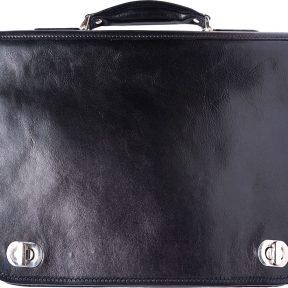 Δερμάτινος Χαρτοφύλακας 2 Θέσεων Firenze Leather 7607 Μαύρο