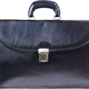 Δερμάτινος Χαρτοφύλακας 3 Θέσεων Firenze Leather 7617 Μαύρο