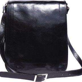 Δερματινη Τσαντα Ωμου Mirko MM Firenze Leather 6516 Μαύρο