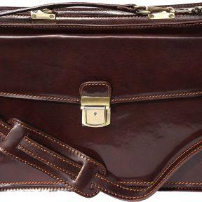Δερματινος Χαρτοφυλακας Firenze Leather 7621 Σκουρο Καφε