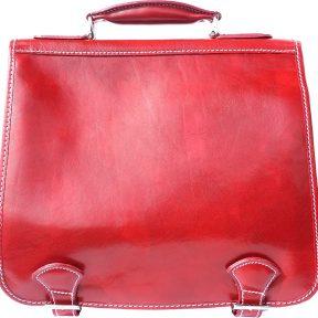 Δερμάτινος Χαρτοφύλακας Mini 2 Θέσεων Firenze Leather 7608 Κόκκινο