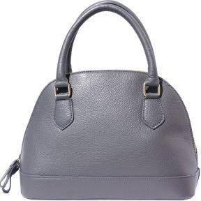 Δερματινη Τσαντα Χειρος Firenze Leather 9130 Σκουρο Γκρι