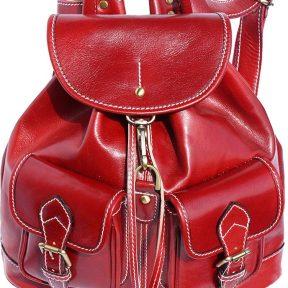 Δερμάτινη Τσάντα Πλάτης Davide Firenze Leather 6554 Κόκκινο