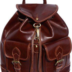 Δερμάτινη Τσάντα Πλάτης Davide Firenze Leather 6554 Σκουρο Καφε
