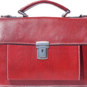 Δερματινος Χαρτοφυλακας Mini Lucio Firenze Leather 6564 Σκουρο Κόκκινο