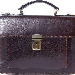 Δερματινος Χαρτοφυλακας Mini Lucio Firenze Leather 6564 Σκουρο Καφε