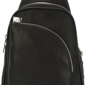 Δερμάτινη Τσάντα Πλάτης Gerardo Firenze Leather 6123 Μαύρο