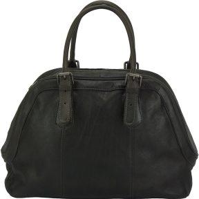 Δερμάτινη Τσάντα Χειρός Zaira Firenze Leather 68153 Μαύρο