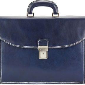 Δερματινος Χαρτοφυλακας Filippo Firenze Leather 7614 Σκουρο Μπλε