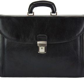 Δερματινος Χαρτοφυλακας Filippo Firenze Leather 7614 Μαύρο