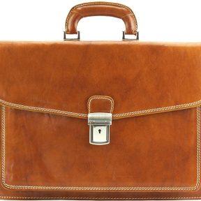 Δερματινος Χαρτοφυλακας Dalmazio Firenze Leather 7602 Μπεζ