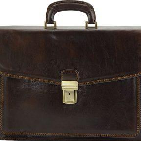 Δερματινος Χαρτοφυλακας Dalmazio Firenze Leather 7602 Σκουρο Καφε