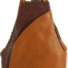 Δερμάτινη Τσάντα Πλάτης Antonella Firenze Leather 2065 Μπεζ/Καφε