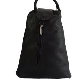 Δερμάτινη Τσάντα Πλάτης Michela Firenze Leather 2001 Μαύρο