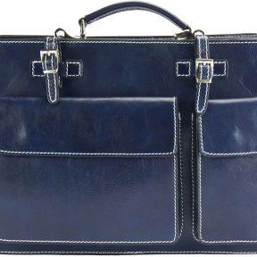Χαρτοφυλακας Δερματινος Daniele Firenze Leather 7632 Σκουρο Μπλε