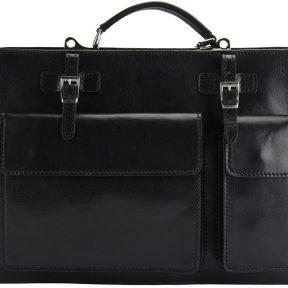 Γυναικειος Δερματινος Χαρτοφυλακας Daniele GM Firenze Leather 7633 Μαύρο