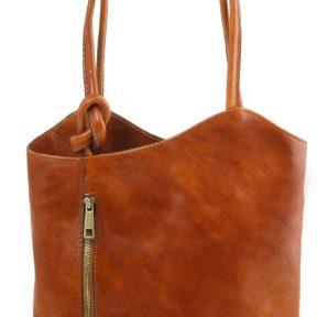Γυναικεία Τσάντα Δερμάτινη Patty Μελί Tuscany Leather