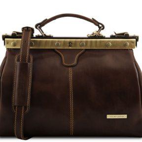 Ιατρική Τσάντα Δερμάτινη Michelangelo Καφέ σκούρο Tuscany Leather