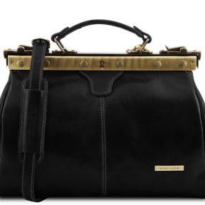 Ιατρική Τσάντα Δερμάτινη Michelangelo Μαύρο Tuscany Leather
