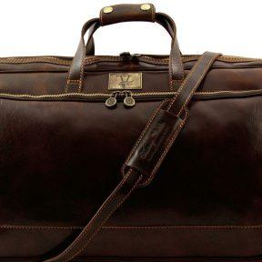 Δερμάτινος Σάκος Ταξιδίου Trolley Bora Bora L Καφέ σκούρο Tuscany Leather