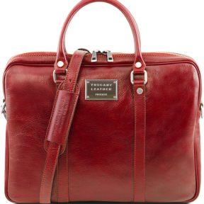 Γυναικεία Τσάντα Laptop 15.6″ Δερμάτινη Prato Κόκκινο Tuscany Leather