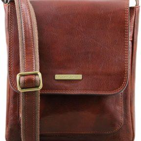 Ανδρικό Τσαντάκι Δερμάτινο Jimmy Καφέ Tuscany Leather