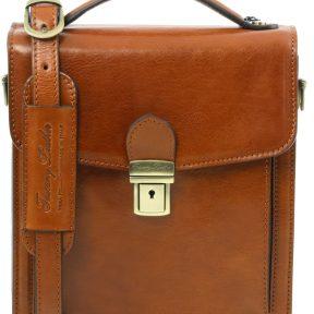 Ανδρικό Τσαντάκι Δερμάτινο David S Μελί Tuscany Leather