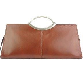 Δερμάτινη Τσάντα Χειρός Cipressino Firenze Leather 212 Καφέ