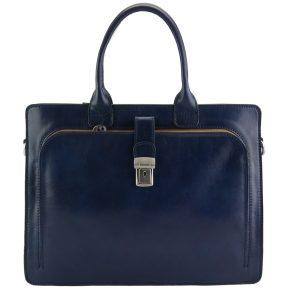 Δερματινος Χαρτοφυλακας Giacinto Firenze Leather 7635 Σκούρο Μπλε