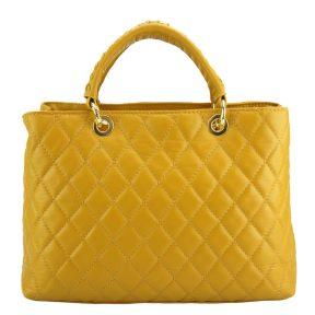 Δερμάτινη Τσάντα Ώμου Severa Firenze Leather 7006 Κίτρινο