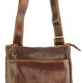 Δερμάτινο Τσαντάκι Ώμου Vito Firenze Leather 6573 Καφέ