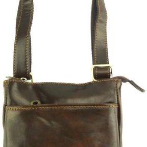 Δερμάτινο Τσαντάκι Ώμου Vito Firenze Leather 6573 Σκούρο Καφέ