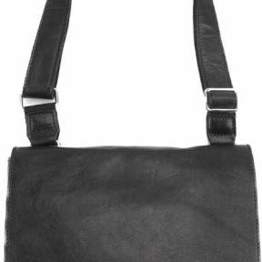 Τσάντα Ταχυδρόμου Flap Firenze Leather 6574 Μαύρο