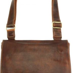 Τσάντα Ταχυδρόμου Flap Firenze Leather 6574 Καφέ