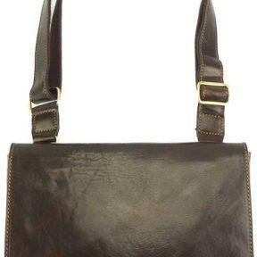Τσάντα Ταχυδρόμου Flap Firenze Leather 6574 Σκούρο Καφέ