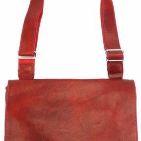 Τσάντα Ταχυδρόμου Flap Firenze Leather 6574 Σκούρο Κόκκινο